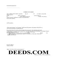 Mercer County Correction Deed Form Page 1