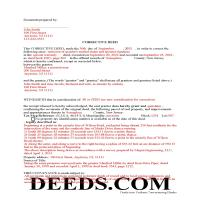 Mercer County Completed Example of the Correction Deed Document Page 1