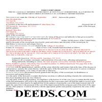 Delaware County Completed Example of the Executor Deed Document Page 1