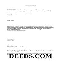 Allegany County Correction Deed Form Page 1