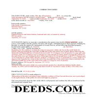 Allegany County Completed Example of the Correction Deed Document Page 1