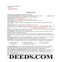 Montgomery County Completed Example of the Long Form Mortgage Page 1