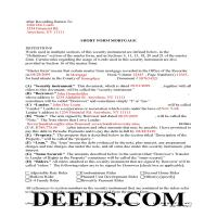 Delaware County Completed Example of the Short Form Mortgage Page 1