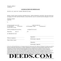 Montgomery County Satisfaction of Mortgage Form Page 1