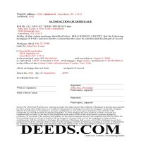 Montgomery County Completed Example of the Satisfaction of Mortgage Document Page 1