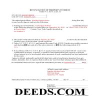 Montgomery County Completed Example of the Disclaimer of Interest Document Page 1