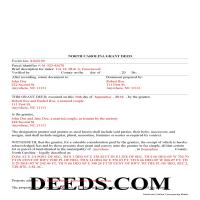 Camden County Completed Example of the Grant Deed Document Page 1