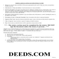 Tyrrell County Notice of Subcontract Guide Page 1