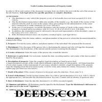 Mecklenburg County Disclaimer of Interest Guide Page 1