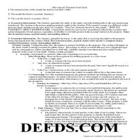Miami County Special Warranty Deed Guide Page 1