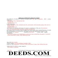 Miami County Completed Example of the Special Warranty Deed Document Page 1