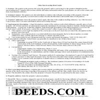 Carroll County Survivorship Deed Guide Page 1