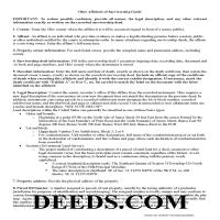Hardin County Affidavit of Survivorship Guide Page 1