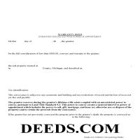 Schoolcraft County Warranty Deed with Enhanced Life Estate Guide Page 1