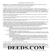 Miami County Affidavit of Confirmation Guide Page 1
