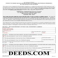 Miami County Notice to Medicaid Estate Recovery Program Form Page 1