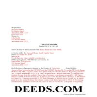 Miami County Completed Example of the Trustee Deed Document Page 1