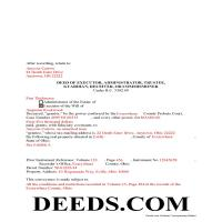 Miami County Completed Example of the Fiduciary Deed Document Page 1