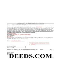 Miami County Completed Example of the Conditional Lien Waiver Document Page 1