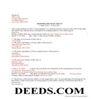 Miami County Completed Example of the Memorandum of Trust Page 1