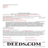 Johnston County Completed Example of the Transfer on Death Deed Document Page 1