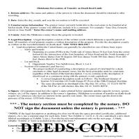 Washita County Transfer on Death Revocation Guide Page 1