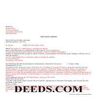Noble County Completed Example of the Trustee Deed Document Page 1