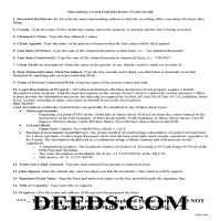 Noble County Claim of Mechanics Lien Guide Page 1