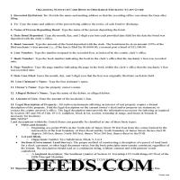 Stephens County Notice of Bond to Discharge Lien Guide Page 1