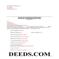 Stephens County Completed Example of the Notice of Bond to Discharge Lien Document Page 1