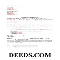 Adair County Completed Example of the Release of Mechanic Lien Document Page 1