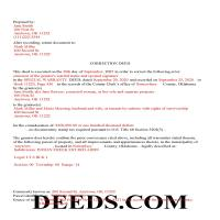 Ellis County Completed Example of the Correction Deed Document Page 1