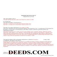 Osage County Completed Example of the Memorandum of Trust Document Page 1