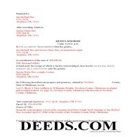 Johnston County Completed Example of the Quit Claim Deed Document Page 1