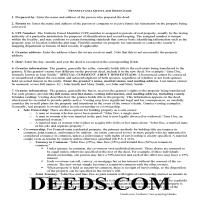 Juniata County Quit Claim Deed Guide Page 1
