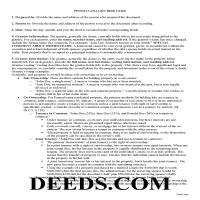 Huntingdon County Gift Deed Guide Page 1