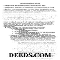 Cambria County Special Warranty Deed Guide Page 1