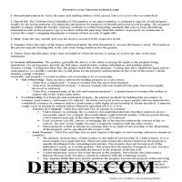 Delaware County Trustee Deed Guide Page 1