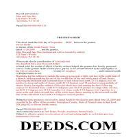 Delaware County Completed Example of the Trustee Deed Document Page 1