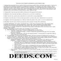 Potter County Personal Representative Deed Guide Page 1