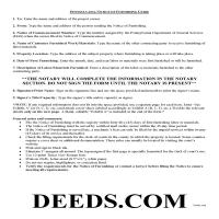 Lehigh County Notice of Furnishing Guide Page 1