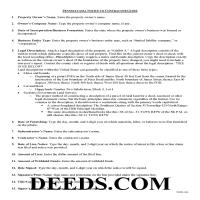 Delaware County Notice to Contractor Guide Page 1