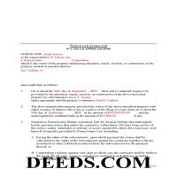 Delaware County Completed Example of the Notice to Contractor Document Page 1