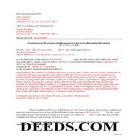 Lehigh County Completed Example of the Conditional Lien Waiver on Progress Payment Document Page 1