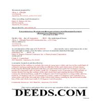 Greene County Completed Example of the Unconditional Lien Waiver on Final Payment Document Page 1