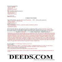 Tioga County Completed Example of the Correction Deed Document Page 1