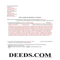 Mercer County Completed Example of the Disclaimer of Interest Document Page 1