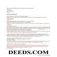 Clarendon County Completed Example of the Quit Claim Deed Document Page 1