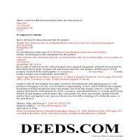 Lexington County Completed Example of the Warranty Deed Document Page 1