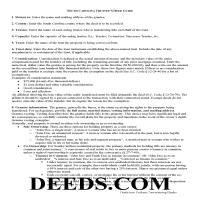Lexington County Trustee Deed Guide Page 1